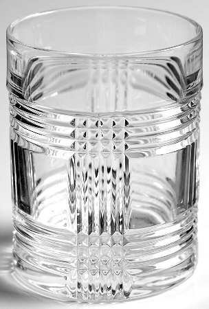 Ralph Lauren Glen Plaid Double Old Fashioned Single Crystal Glass 11.1 Ounces Made in ()