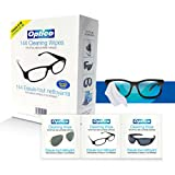 Optico Professional Pre-Moistened Optical Cleaning wipes ( each wipe 9cm x 13cm - 1 ml fill ) Gently Clean Glasses, Lenses, Sunglasses, Reading Glasses, Eye Glasses, Lens, Glass Surface, Screen Protector, and other Glass Surface - Anti- fog, Anti- Static lens Cleaning Solution - (144 Count - 3 Box of 48 Pack) of Cleaning wipe Ammonia-free wipes clean without leaving streaks or residue