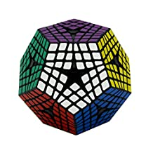 HJXD globle Megaminx Magic Cube 6x6 Dodecahedron Puzzle Cube Toys for Kids Black