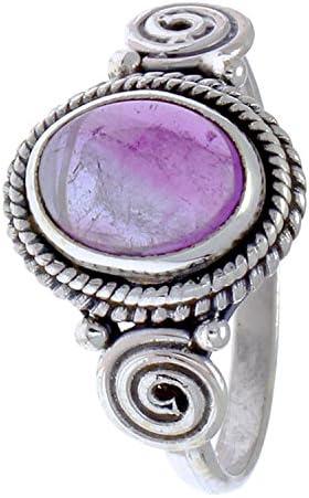 CHIC de Net Plata Anillos amatista cuerdas espirales círculos ovalado Lila puntos de ley 925 plata anillos 58 (18.5): Chic-Net: Amazon.es: Joyería