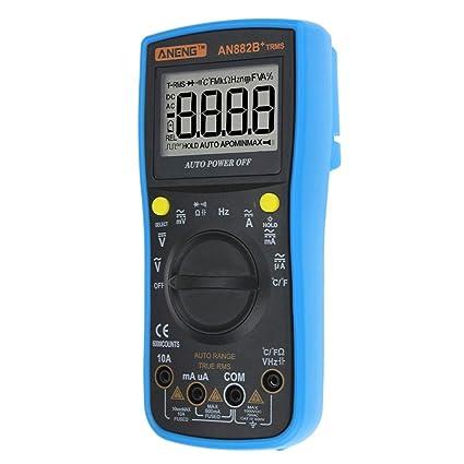 UKCOCO Multímetro digital de rango automático, 6000 contadores Medidor de resistencia de amperaje de alta