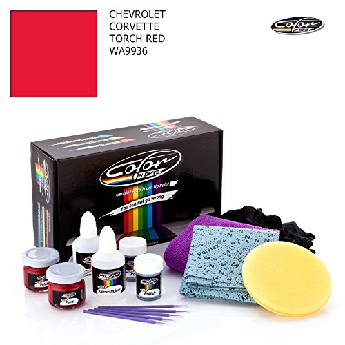 Torch Red Corvette - CHEVROLET CORVETTE / TORCH RED - WA9936 / COLOR N DRIVE TOUCH UP PAINT SYSTEM FOR PAINT CHIPS AND SCRATCHES / BASIC PACK