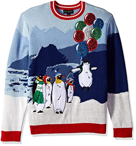 Blizzard Bay Men's Flight of The Penguin Ugly Christmas Sweater, Small -