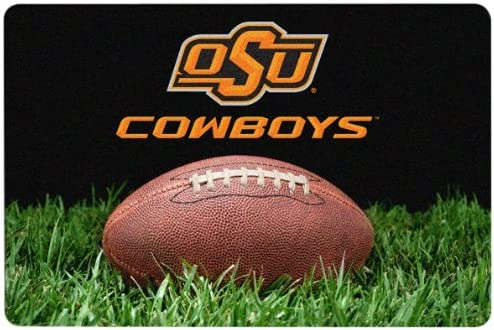 Large NCAA Oklahoma State Cowboys Classic Football Pet Bowl Mat