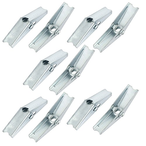 - uxcell 5/16-inch Dia Female Thread Spring Loaded Hollow Wall Anchor Toggle Wing Nut 10pcs