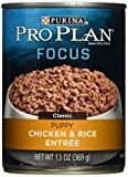 Purina Pro Plan Focus Classic Chicken & Rice Entree Wet Puppy Food – (12) 13 Oz. Cans Review