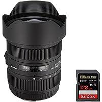 Sigma (204-101) ART AF 12-24mm F4.5-5.6 II DG HSM Lens for Canon EOS SLR + Sandisk Extreme PRO SDXC 128GB UHS-1 Memory Card