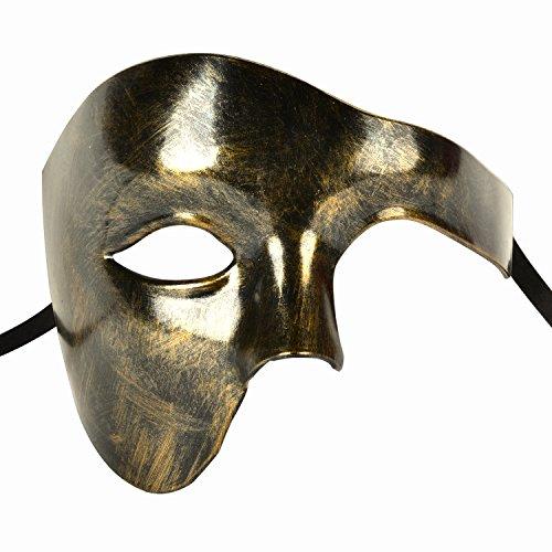 Outgeek Phantom of The Opera Mask Vintage Half Face Opera Mask Phantom Opera Mask Costume -