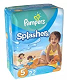 Pampers Splashers Swim Diapers Size 5 22.0ea (pack of 3)