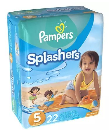Pampers Splashers Swim Diapers Size 5 22.0ea (pack of 5) by Diapers.com