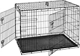AmazonBasics Double-Door Folding Metal Dog Crate – 42 Inches
