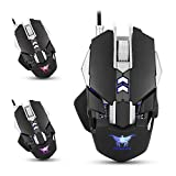 Combaterwing CW30 Wired Gaming Mouse Mice 7 Buttons 3200DPI 1000Hz Return Rate Weight Tuning 4 Color Breathing LED Light