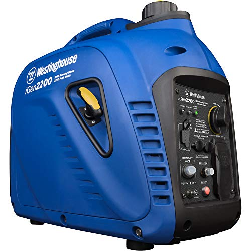 Westinghouse iGen2200 Super Quiet Portable Inverter Generator 1800 Rated & 2200 Peak Watts