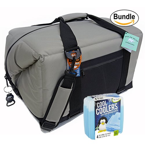 polar-bear-coolers-nylon-solar-bear-series-soft-cooler-tote-size-48-pack-silver-fit-fresh-cool-coole