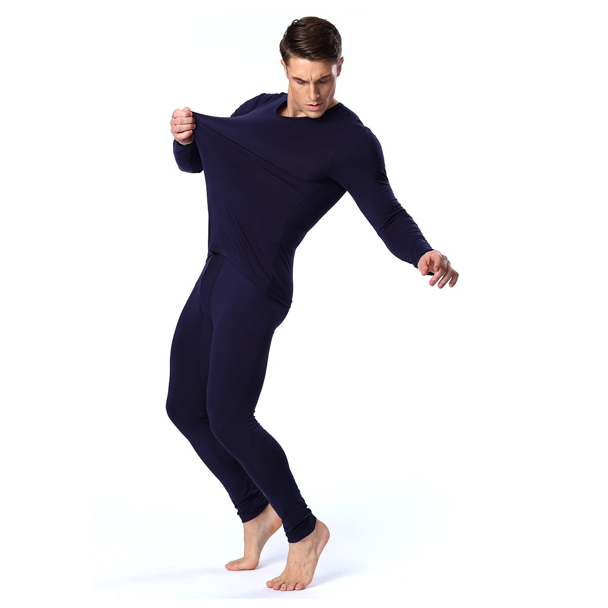 INCART Thermal Underwear Set, Trade; Men's Long Sleeve Top & Long Johns Set Modal Breathable Fabrics|Slim Design-Warmth & Comfort For Winter QSD01