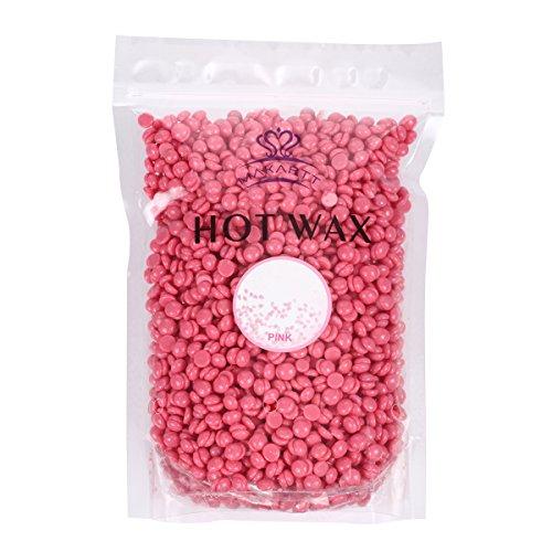 MAKARTT Hot Wax Pellets Pure Warm Bikini Wax Pellets Natural Hair Removal Wax (300g pink)