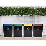 Tatay-Cubo-de-Reciclaje-50-L-de-Capacidad-Tapa-Basculante-Polipropileno-Libre-de-BPA-Anti-UVA-Color-Amarillo-Medidas-405-x-335-x-575-cm