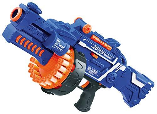 Evike Foam Blaster - Soft Foam Dart Toys - Drum Fed Electric Rifle/Blue