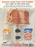 1955 Ad Pillsbury Cake Mix with Orange Crystals Only Needs Milk - Original Vintage Advertisement