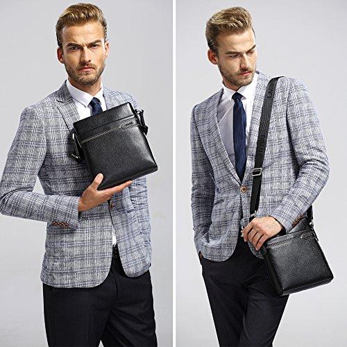 Amazon Com Laorentou Mens Genuine Leather Shoulder Bag Crossbody