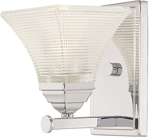 (Minka Lavery Wall Sconce Lighting 4781-77 Conspire Wall Lamp Fixture, 1-Light 60 Watts, Chrome)
