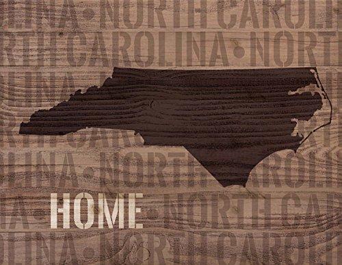 P. Graham Dunn North Carolina State Home Shape Design 12 x 16 Wood Lath Wall Art Sign Plaque