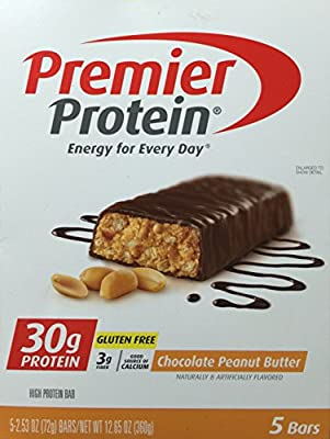 Premier Protein Chocolate Peanut Butter Bars, 5 - 2.53oz Bars
