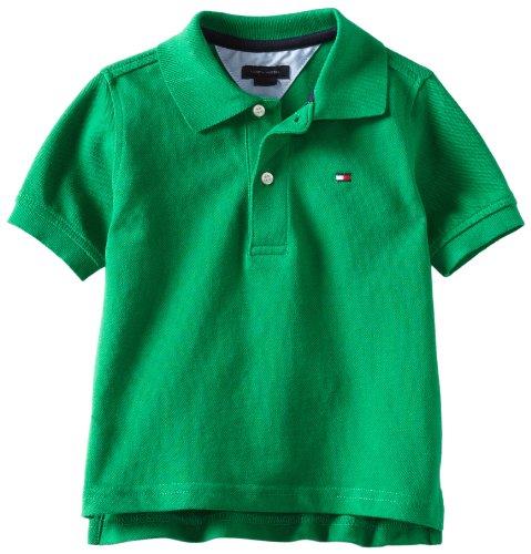 Tommy Hilfiger Big Boys' Short Sleeve Ivy Polo Shirt,Rhinestone - Hilfiger Green Tommy