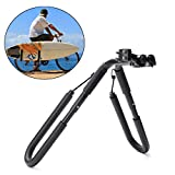 HITSAN BIKIGHT Move By Bike Adjustable Black Aluminum Surfboard Rack Bicycle Surfboard Rack One Piece