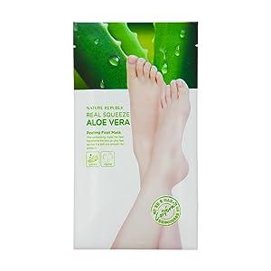 Nature Republic Real Sqeeze Aloe Vera Peeling Foot Mask 25 ml / 0.85 oz x 2ea