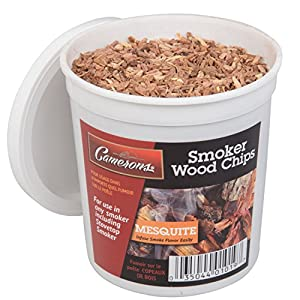 Wood Smoking Chips - 1 Pint of Mesquite Wood Chips (Fine) for Smokers - 100% Natural from Camerons Products