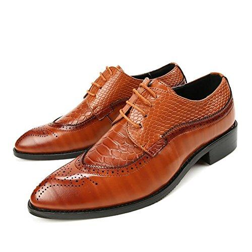 da Fang uomo da 2018 Giallo in Giallo Primavera Scarpe 41 pelle uomo stringate laccetto sintetica shoes Color EU basse Dimensione con Estate qnpqw6Arf