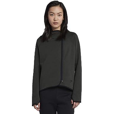 88e116ad1c3 Amazon.com  NIKE Tech Fleece Women s Full-Zip Cape Hoodie (Green ...