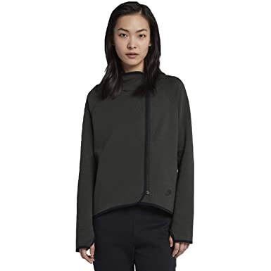 premium selection c4292 e4fc1 NIKE Tech Fleece Women s Full-Zip Cape Hoodie (Green, Medium)