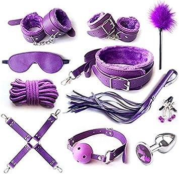 RianGor Kits de Bondage de Entrenamiento b-d-s-m Ajustables 11psc