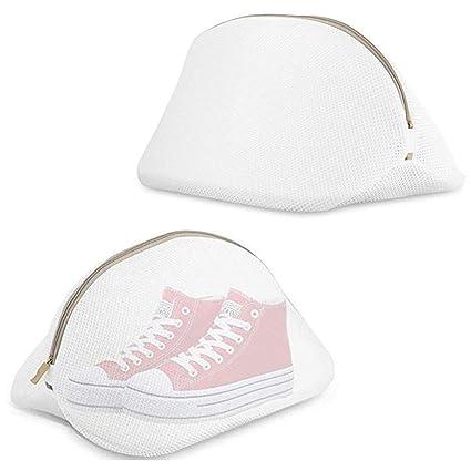 MUXItrade Paquete de 2 Bolsas de Lavado para Zapatos, Saco Lavadora para Lavar Zapatillas Malla