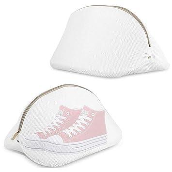 MUXItrade Paquete de 2 Bolsas de Lavado para Zapatos, Saco Lavadora para Lavar Zapatillas Malla Bolsas para la Colada/Secadora Proteger la Ropa Lavandería ...