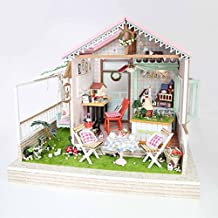 DIY Wooden Miniature Dollhouse Kit--Hand square Doll house with Furniture LED Light Music box