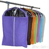 Non-woven Dust-proof Clothes Cover Suit Dress Garment Bag Storage Protector (Random Color) (L)
