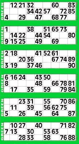 Jumbo Bingo Tickets pads 6 to view (Grey) - Buy Online in ...