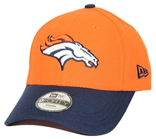 New Era Denver Broncos Youth NFL 9Forty The League Adjustable Hat (Denver Broncos Baseball Cap)