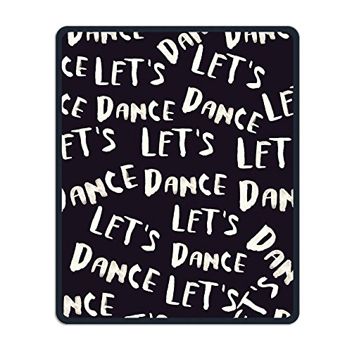 Perfect Gift: Non-Slip Rubber Comfortable Mouse Pads Let's Dance Design Black Mouse Mat Personality Desings Gaming Mouse Pad Style 11.8 9.8 Inches React Dance Pad