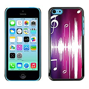 Paccase / SLIM PC / Aliminium Casa Carcasa Funda Case Cover - Music Pink - Apple Iphone 5C