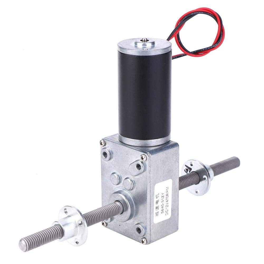 Enjoy Quality Life Right and Left Hand Shaft Coaxial M8 Thread Speeds Reduction 1280 Motor with Flange Worm Gear Motor 670