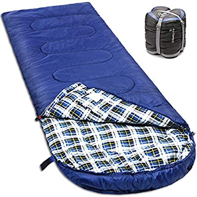 NORSENS 0 Degree Celsius Cold Weather Sleeping Bag for Camping, Backpacking, Hiking. Large Outdoor Compact Sleeping Bags with Compression Sack for Adults. 90.5 x 32.6 inch