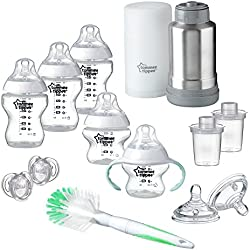 Tommee Tippee Closer to Nature Newborn Baby Essentials Feeding Gift Set