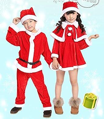 9c3ab5782b83c サンタ コスプレ衣装 サンタ 衣装 子供 サンタ コスチューム キッズ 子供服 サンタクロース 帽子付き 女の子 男の子