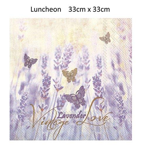Love Lunch Napkins - Boston International L782000 Ihr Paper Lunch Napkins, 6.5 x 6.5-Inches, Vintage Lavender Love