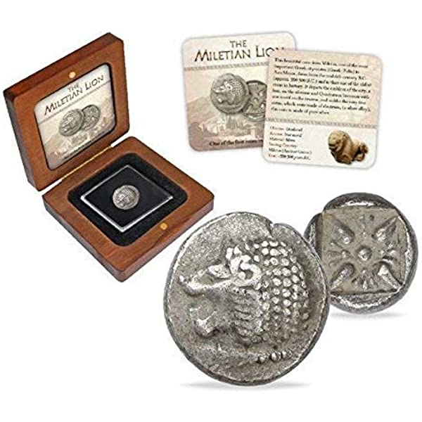 IMPACTO COLECCIONABLES Monedas Antiguas - Dióbolo de Mileto en Plata, Grecia Antigua: Amazon.es: Juguetes y juegos
