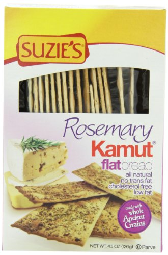Suzie's Kamut Flatbreads with Rosemary, 4.5 Ounce Boxes (...